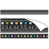 Clingy Thingies Chalkboard Brights Straight Border