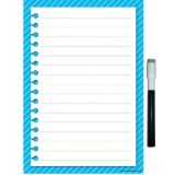 Note Sheet Aqua Stripes Small