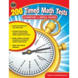 200 Timed Math Tests: Elmentary To Mid