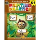Practice to Learn: Printing Practice K-1