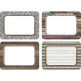 Reclaimed Wood Name Tags 36/Pk