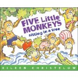 Book and CD- Five Little Monkeys Sitting In A Tree