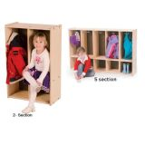 Toddler Lockers - 2 Section