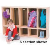 Toddler Lockers - 5 Section