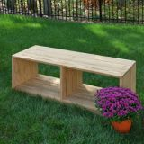 Outdoor Bench With Storage 18X48X16.5