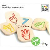 Hand Sign Numbers 1–10