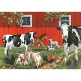 Red Barn Farm Tray Puzzle