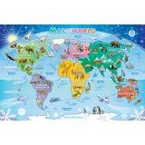 Map of the World Tray Puzzle