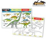 Dinosaurs Color-A-Mat