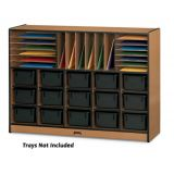 Sproutz® Sectional Cubbie-Tray Mobile Unit - without Trays - Black