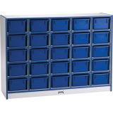 Rainbow Accents® 25 Cubbie-Tray Mobile Storage - with Trays - Black