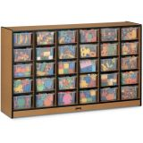 Sproutz® 30 Cubbie-Tray Mobile Storage - with Clear Trays - Caramel