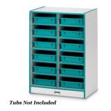 Rainbow Accents® 12 Paper-Tray Mobile Storage - without Paper-Trays - Blue
