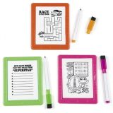 Plastic Neon Dry Erase Board Games, 12/Pack