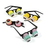 Plastic Child's Hanging Rainbow Goo-Goo Eyeglasses, 12/Pack