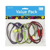 Plastic Zipper Bracelets 8 - Multi Colors, 36/Pack