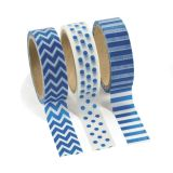 Paper Blue Washi Tape Set, 3 rolls/Pack