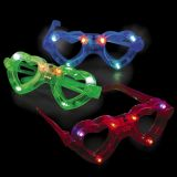 Plastic Light-Up Heart Shape Glasses, 3/Pack