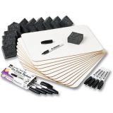 Dry Erase LapBoards Classpack, 12 Boards, Erasers and Black Markers