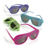 Plastic Neon '80s Style Sunglasses, 12/Pack