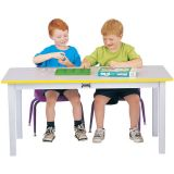 Rainbow Accents® Multi-Purpose Large Rectangle Table - 10 High - Blue