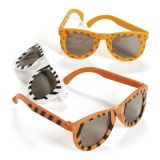 Plastic Animal Print Sunglasses, 12/Pack