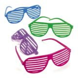 Plastic Shutter Shading Glasses, 12/Pack