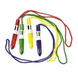 Plastic Mini Shuttle Pens on A Rope, 12/Pack