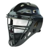 Adult Hockey Style Catcher's Mask, ABS shell, steel cage, fits 7.5-8, black