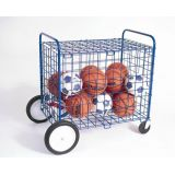 All-Terrain Totemaster Cart, 3 Square Mesh, 2 All-Terrain Wheels, 2 HD Swivel Wheels, Hinged Lockable Cover, 3'L x 2'W x 3'H