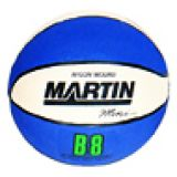 Basketball, Mini 7 diameter, rubber, nylon wound, blue/white