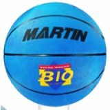 Basketball, junior size 5, rubber, nylon wound, blue