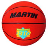 Basketball, junior size 5, rubber, nylon wound, red