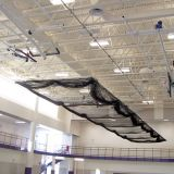 Ceiling Suspended Motorized Retractable Batting Cage For Baseball, net included, 10'H x 12'W x 70'L