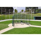 Line Drive High School Batting Cage on Wheels, 16'6 x 16'6 x 12'H, folds to 4'H