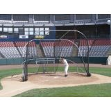 Portable Collegiate-Style Little Slam Batting Cage, 17'6 x 12' x 12', (3) 16 Wheels, Easy Fold for Transport