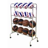 4 Tier Wide Body 16-Ball Cart, 39.5L x 8.5W x 51.5H