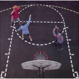 Basketball Court Stencil with Paint Roller, 13' x 21'