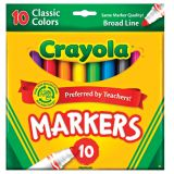 Classic Color Markers, 10 per Pack, Broad Line
