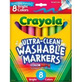 Ultra-Clean Markers, Bright, Broad Line, 8 Pack