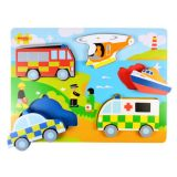 Chunky Lift Out Emergency Services Puzzle