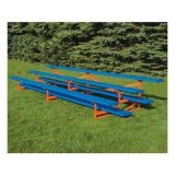 Outdoor 3 Row Bleachers, 15' Standard Powder Coat All Aluminum, Specify Color