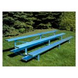 Outdoor 3 Row Bleachers, 21' Standard All Aluminum