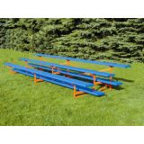 Outdoor 4 Row Bleachers, 15' Standard Powder Coat Aluminum/Steel, Specify Color