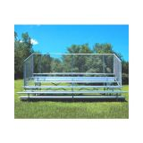 Outdoor 5 Row Bleachers, 21' Aluminum/Steel with Chain Link