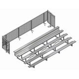 Universal Bleacher Enclosure for 5 Row 15' Bleachers