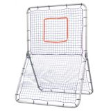 Multi-Sport Pitch Back Screen with Heavyweight Nylon Netting, Steel, 42Wx72H