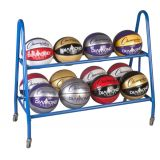 12 Ball Cart, 1 Steel Frames, On Casters, 38L x 17.5W x 35.75H