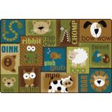 Animal Sounds Toddler Rug, 4'x6' - Nature