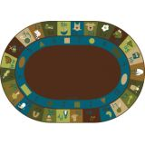 Learning Blocks Rug, 8'3 x 11'8 Oval, Nature's Colors